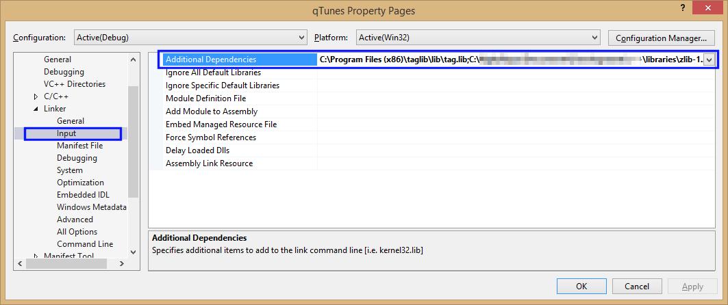 TagLib and ZLib for Microsoft Visual Studio 2013 – hohmanjl
