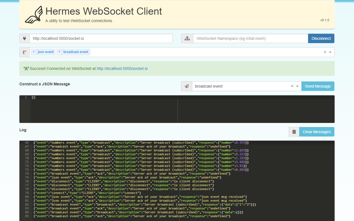 WebSockets Test Server and Hermes WebSocket Client – hohmanjl